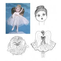 Peaches Ballerina Angel - FREE Cloth Doll Patterns